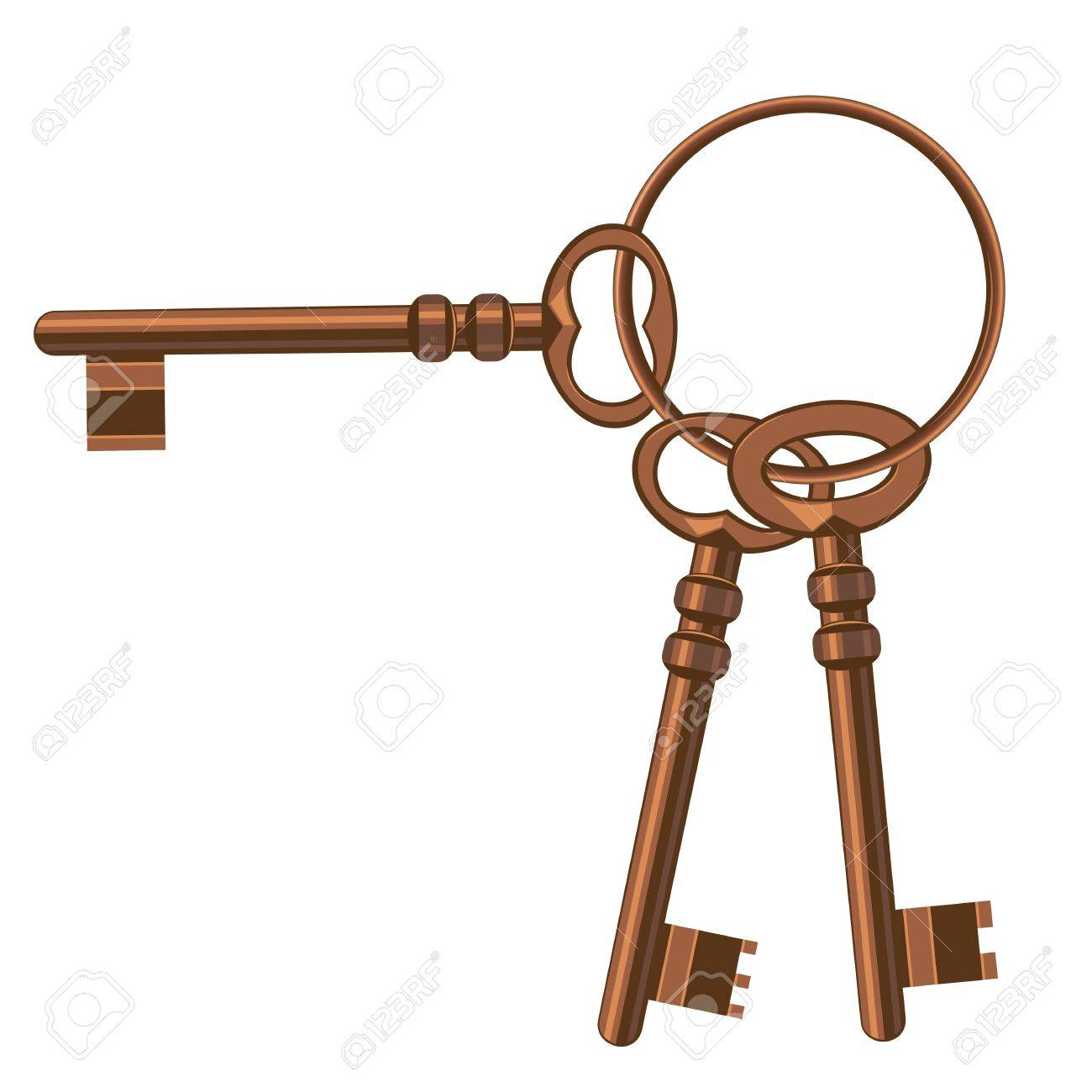 A bunch of old keys. Stock Vector - 17249125