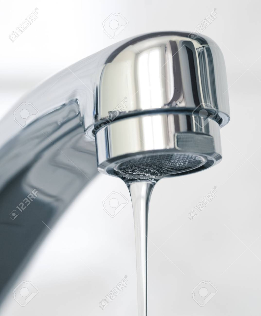 Water flowing from water faucet, close up Stock Photo - 19071984