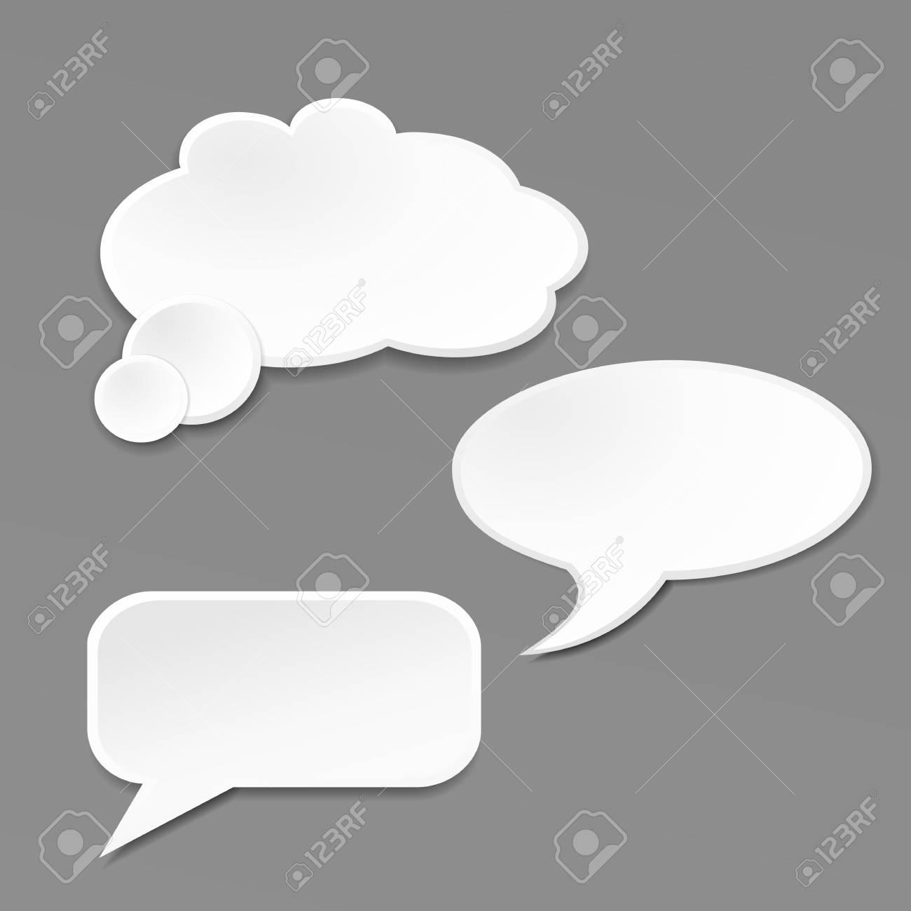 Speech bubble on grey background Stock Vector - 20442242