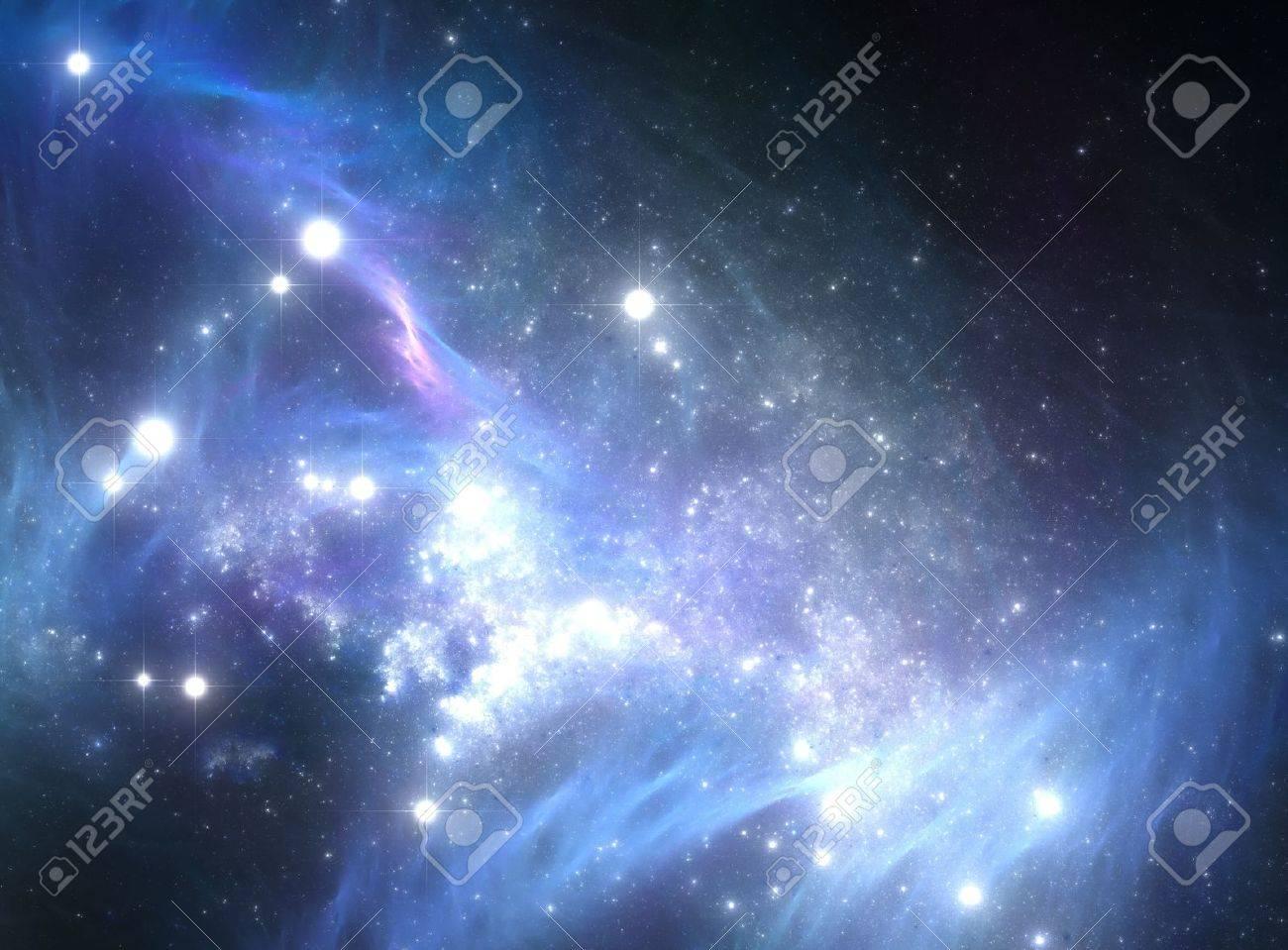 Blue space star nebula Stock Photo - 22072533