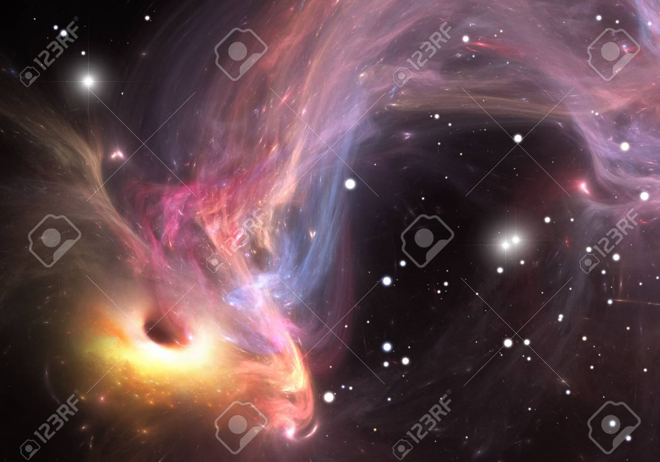 Heavy black hole absorbing gas and dust from around - 30998931