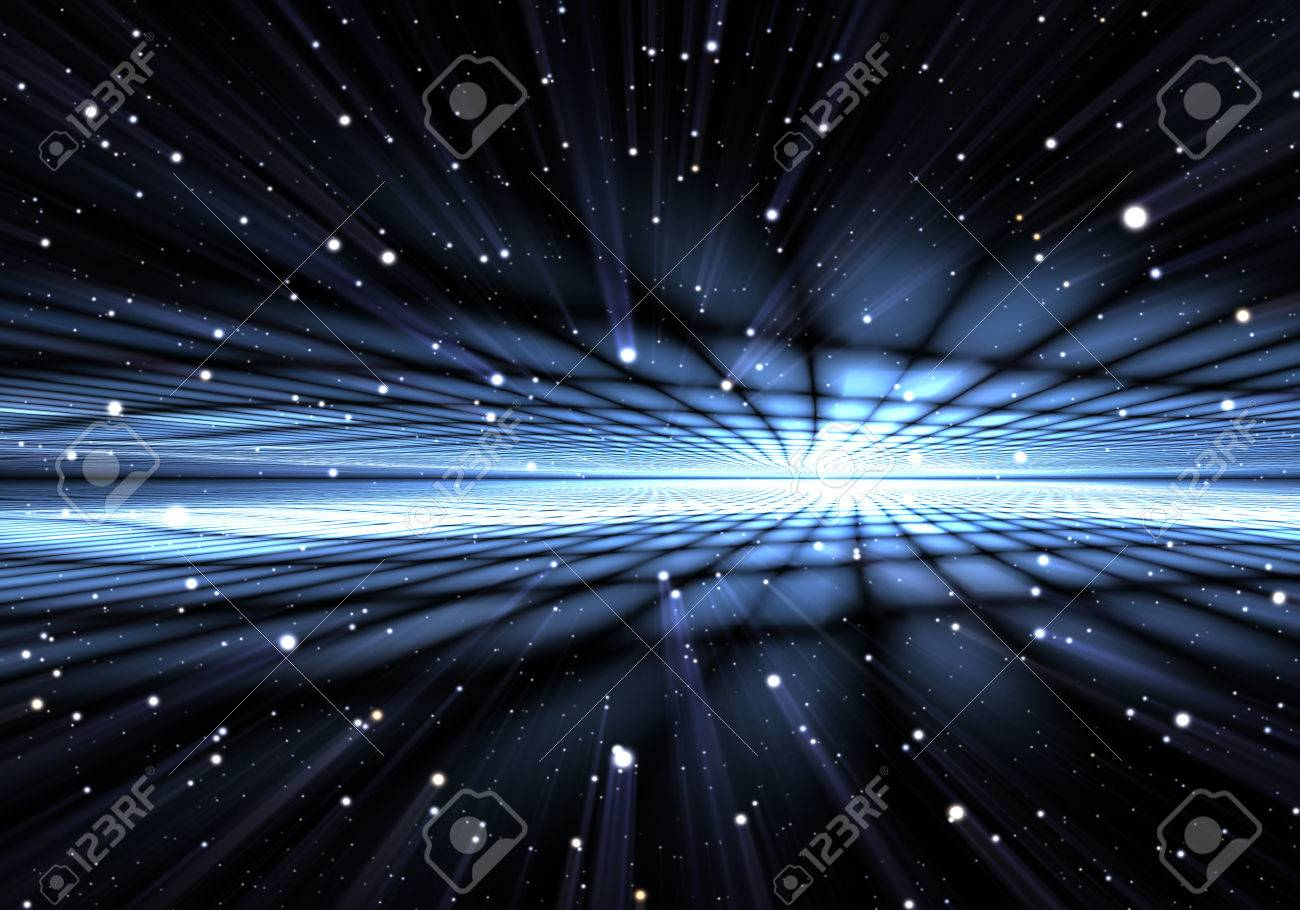 Abstract time warp, traveling in space. - 32962141