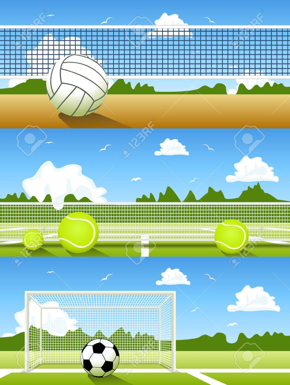 Vector Set of sport banners - 39224241