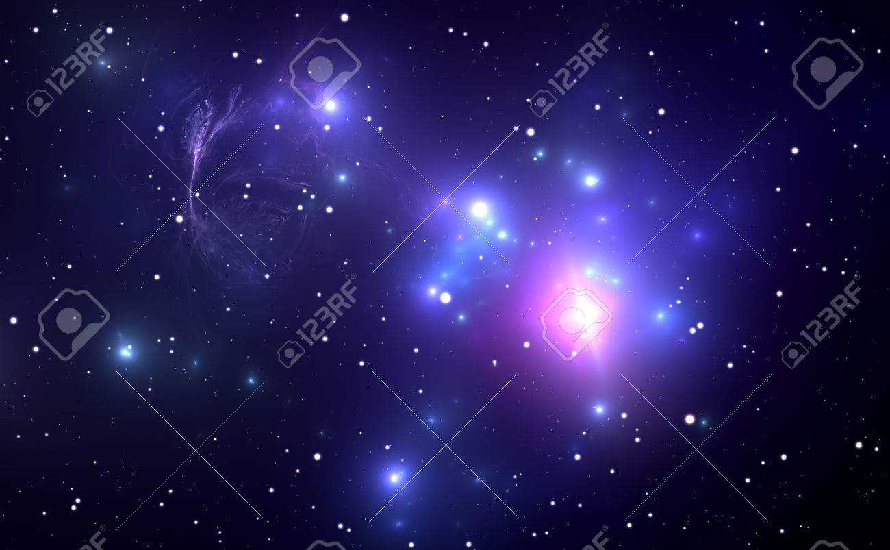 Space nebula with Supernova Explosion in the background - 39524213