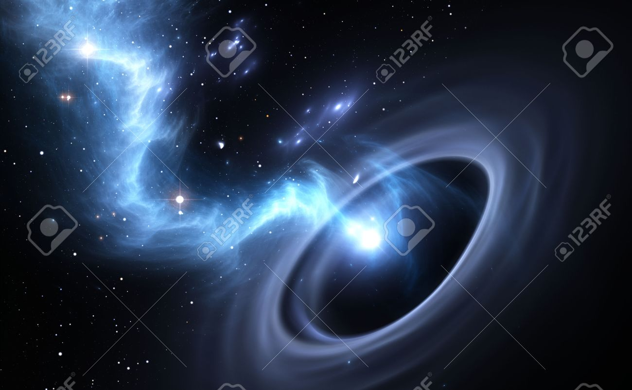 Stars and material falls into a black hole - 41963061