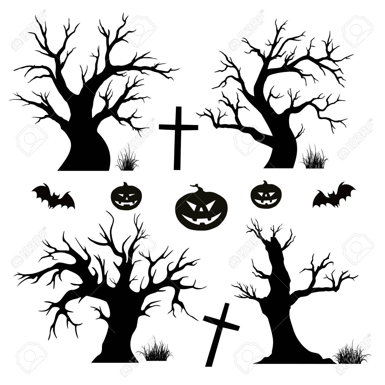 Halloween , Halloween Tree transparent background PNG clipart in 2020    Leaf illustration, Watercolor flowers paintings, Halloween trees