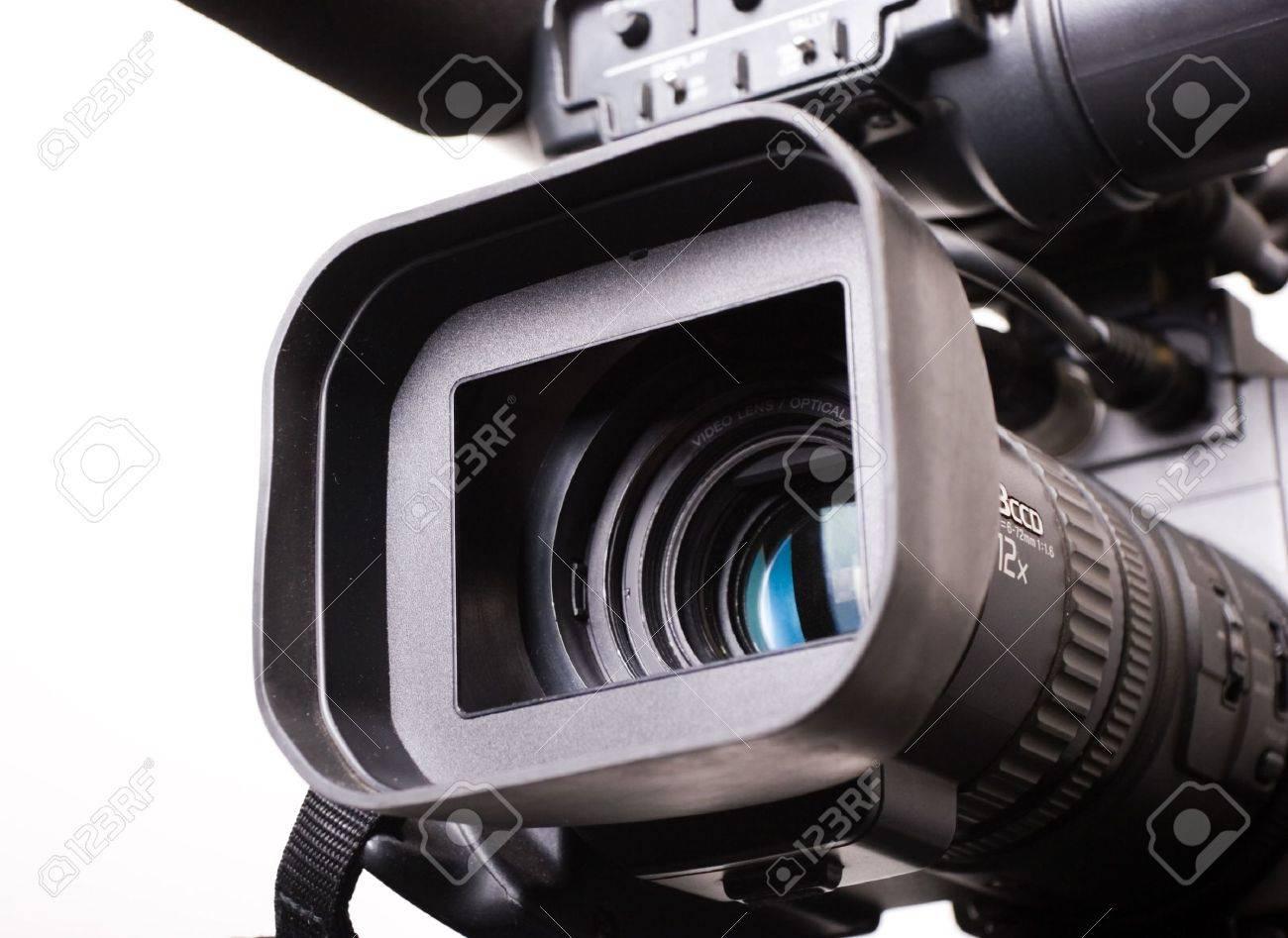 close-up lens part of dv-cam camera recorder Stock Photo - 4647758