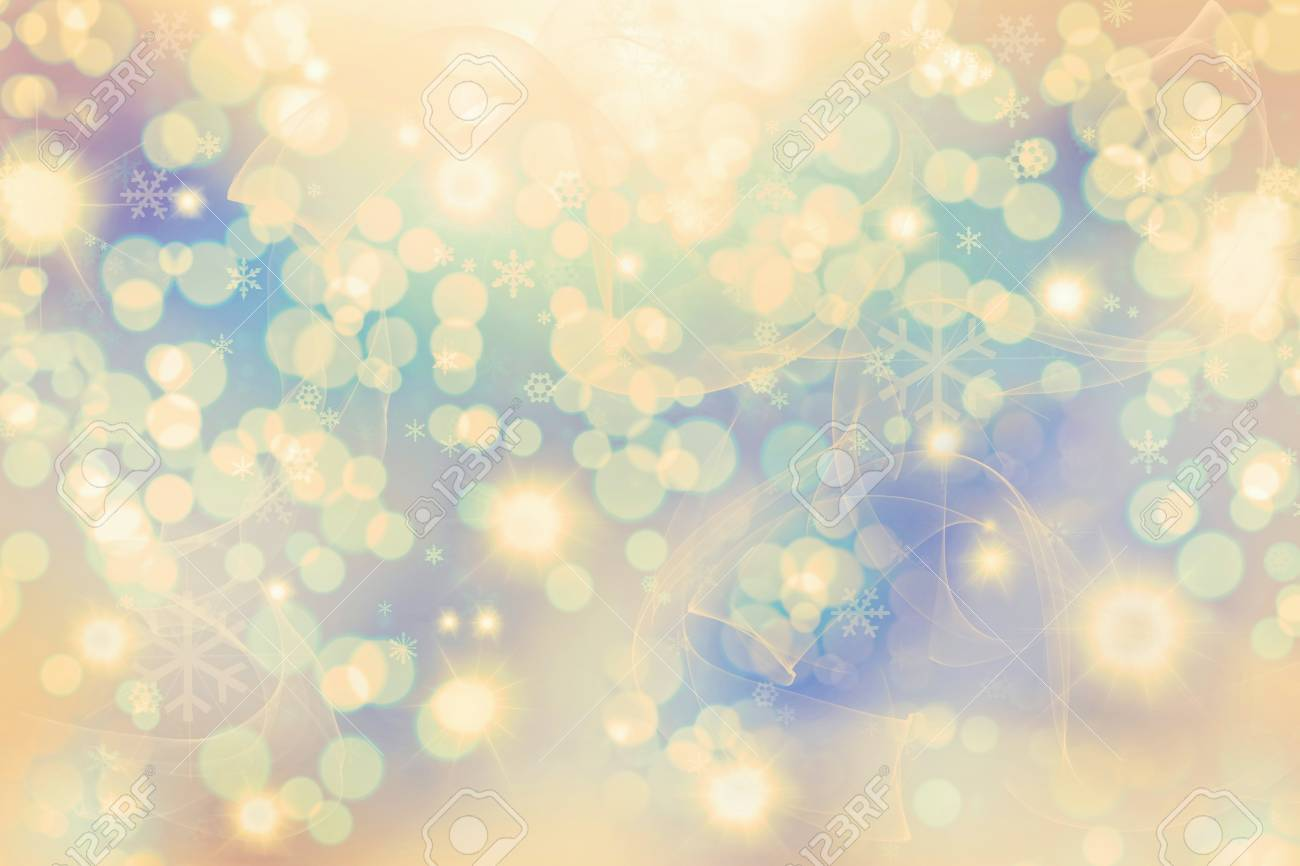 Abstract Winter background.  Christmas abstract bokeh Stock Photo - 12853605