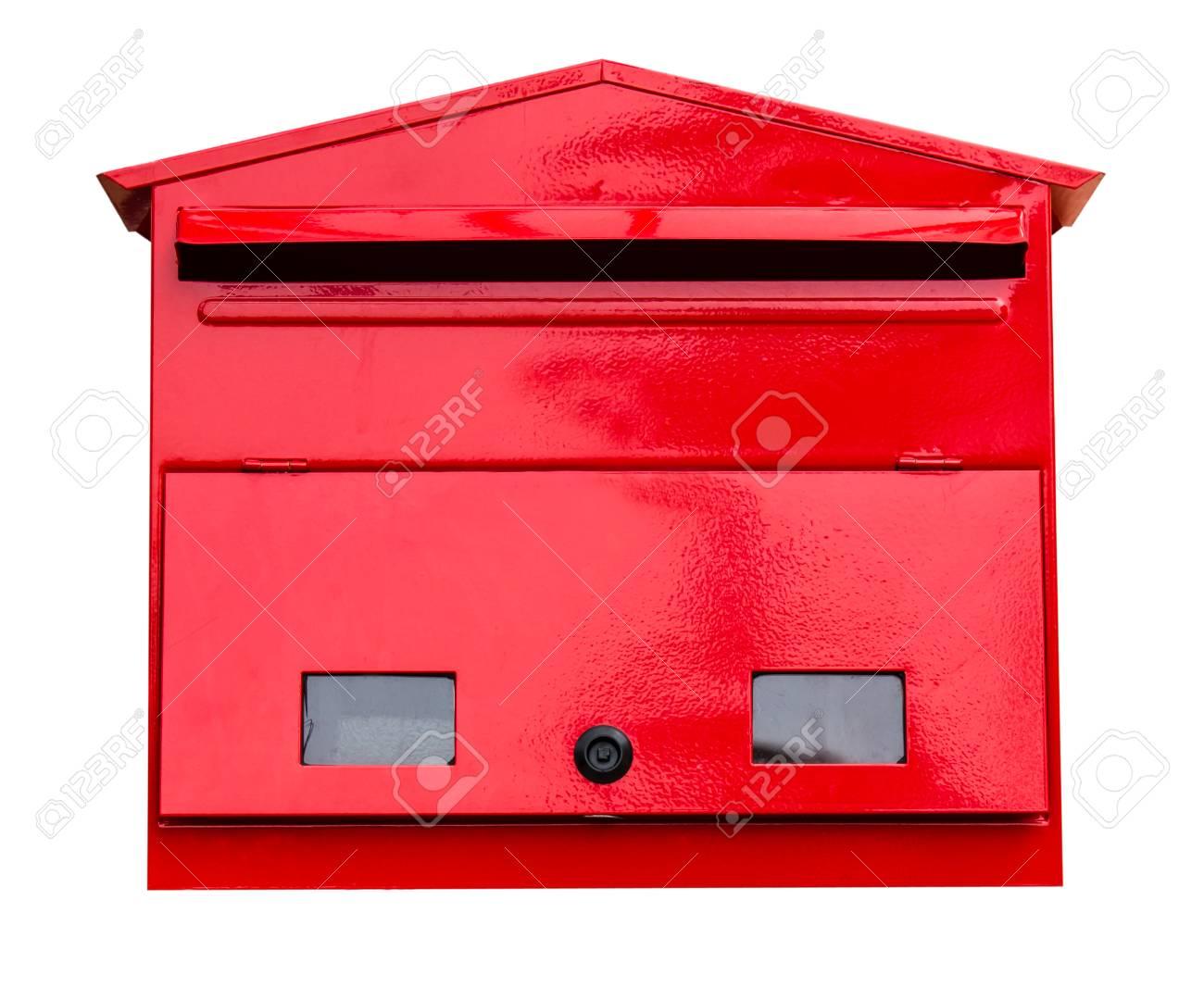 Boite Aux Lettres Rouge Sur Fond Blanc Banque D Images Et Photos