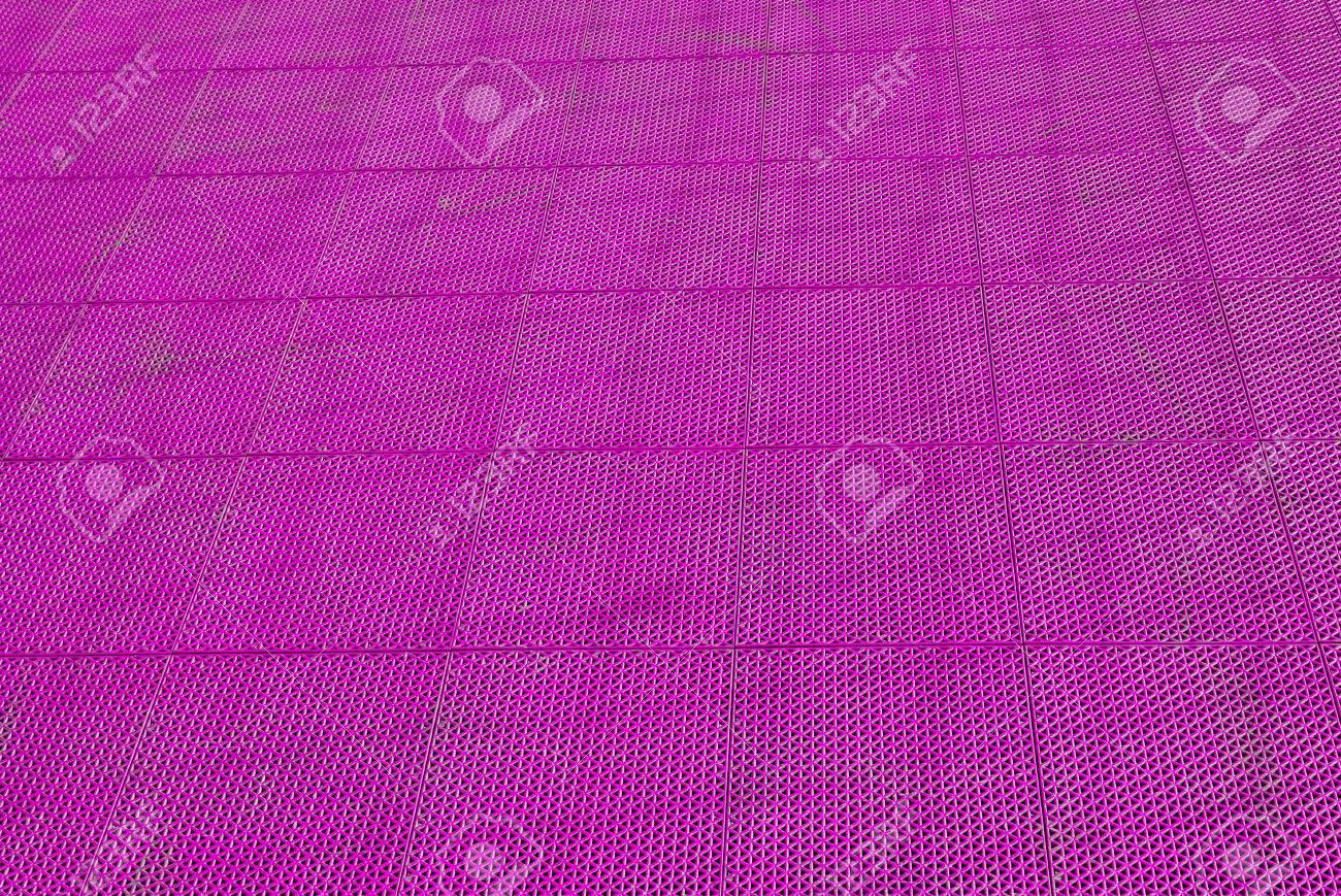 Blue Rubber Flooring On Futsal Field Background Stock Photo