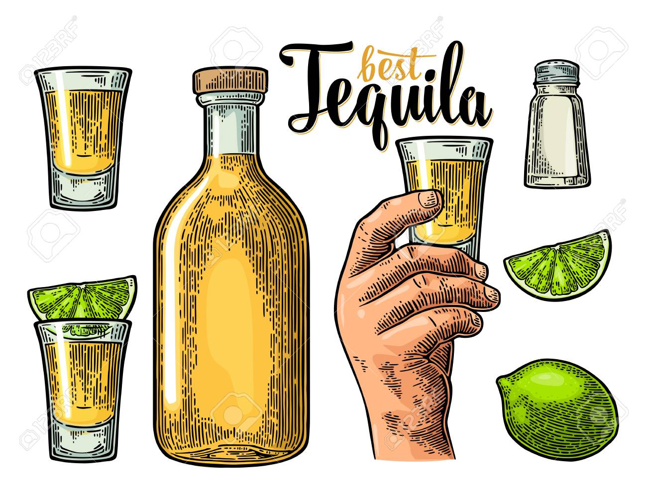Set for tequila. - 75654706
