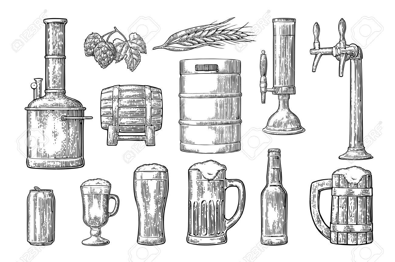 Beer set icon. - 84992426