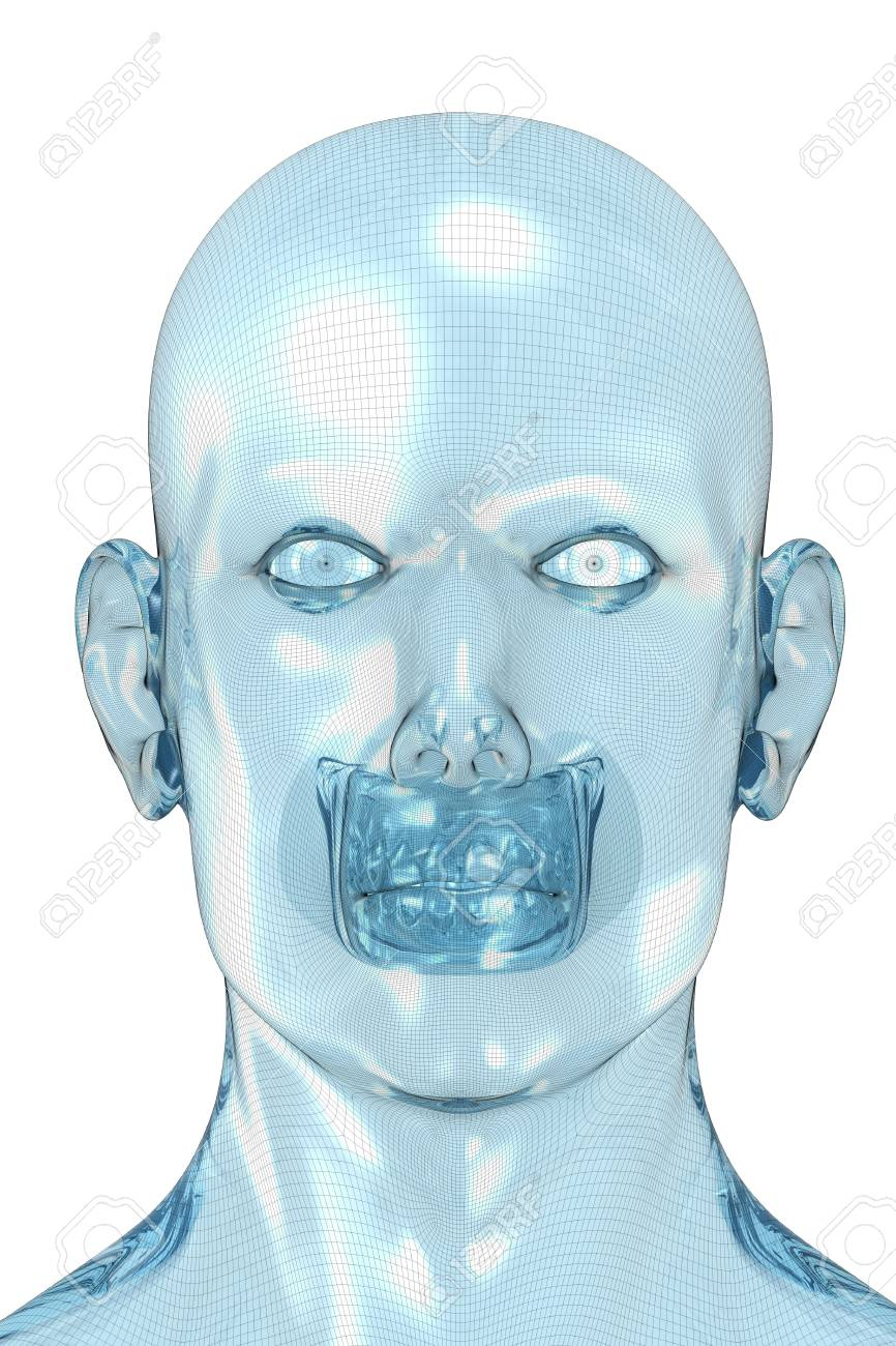 3D redering of a face of a men. Stock Photo - 5053258
