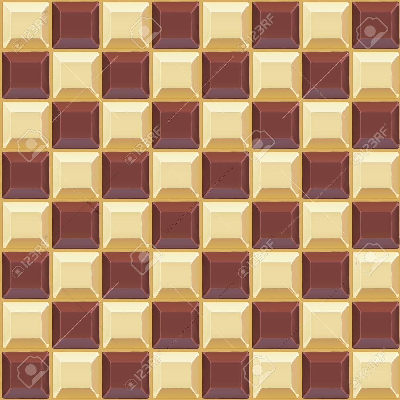 ブラックとホワイト チョコレートのシームレスなベクトル パターン