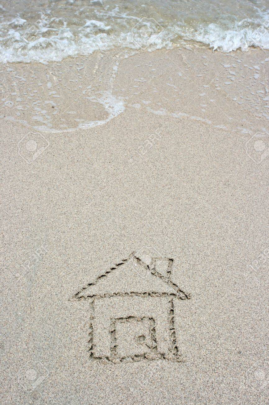 House on sand Stock Photo - 7554110