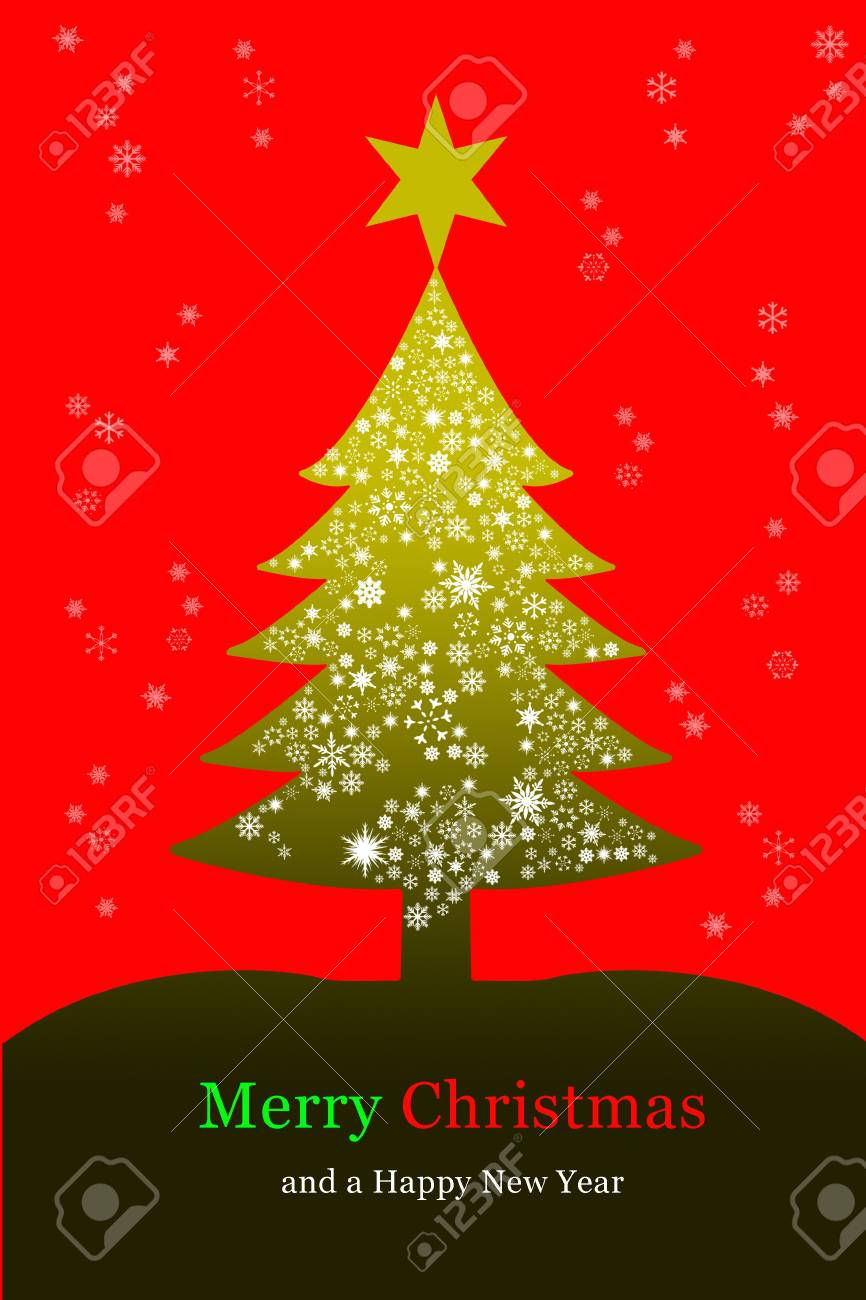 Christmas tree, greeting card Stock Photo - 8133303