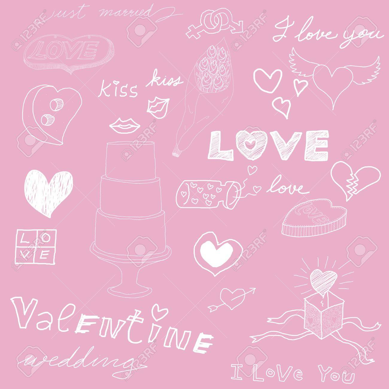 Love theme, Pink background