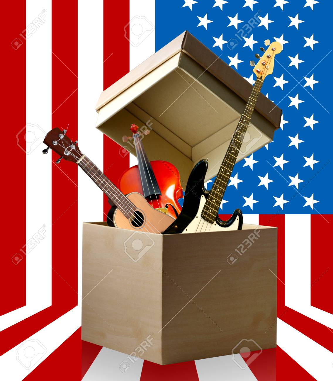 Celebrate with music, Independence day concept Stock Photo - 13348144
