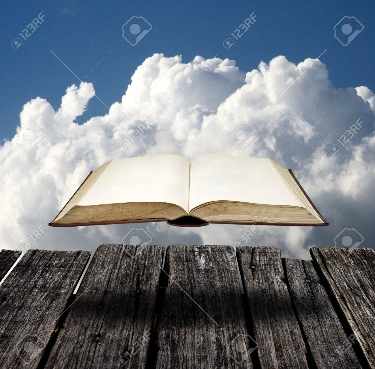 Mystery flying book at the viewpoint Stock Photo - 14568043