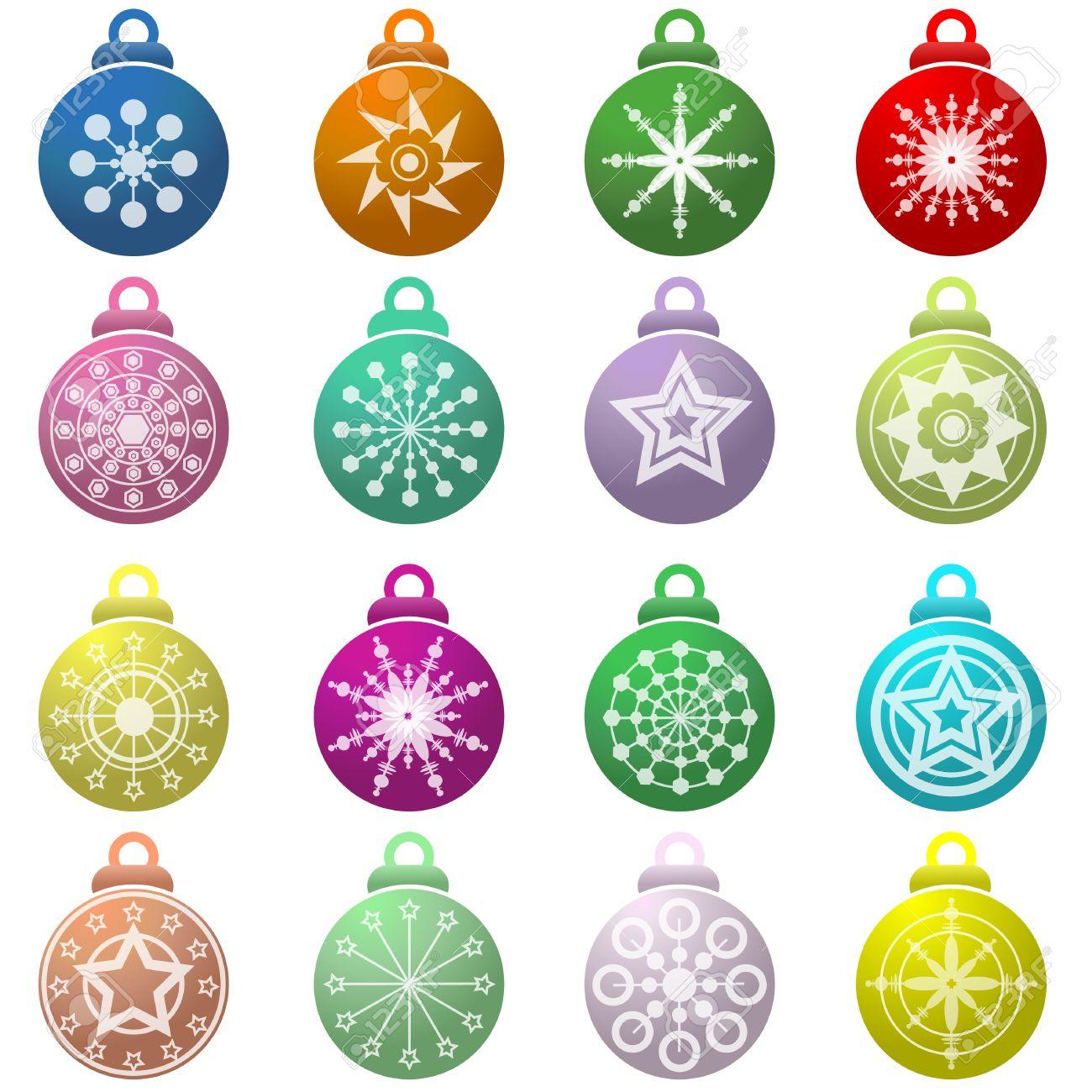 juego de bolas de navidad vector foto de archivo
