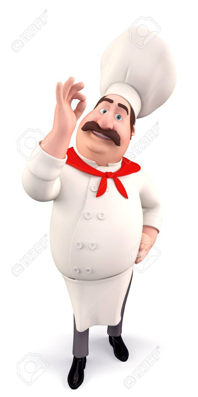 Funny chef with best luck Stock Photo - 13577281