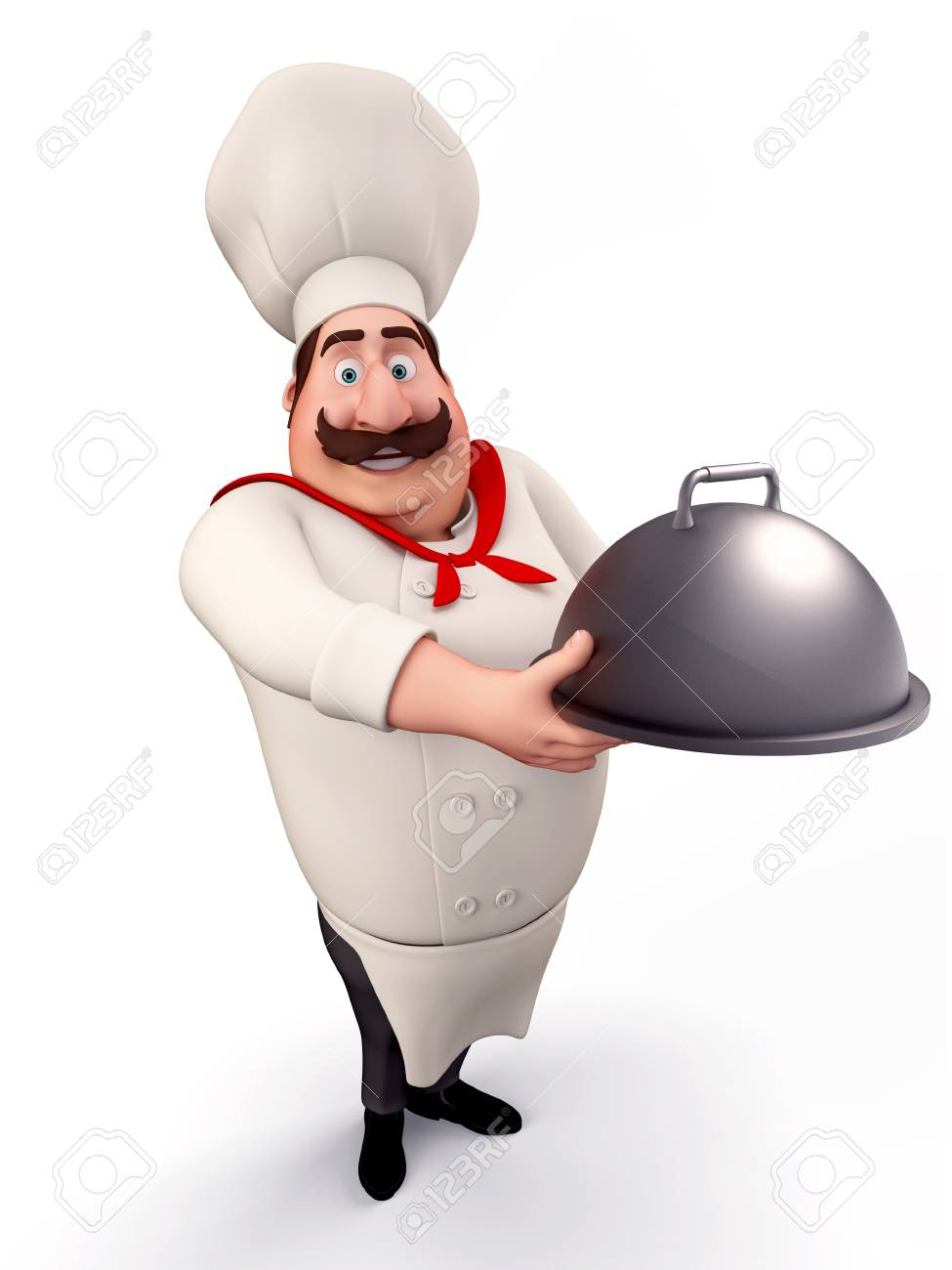 Chef with big bowl Stock Photo - 13577333