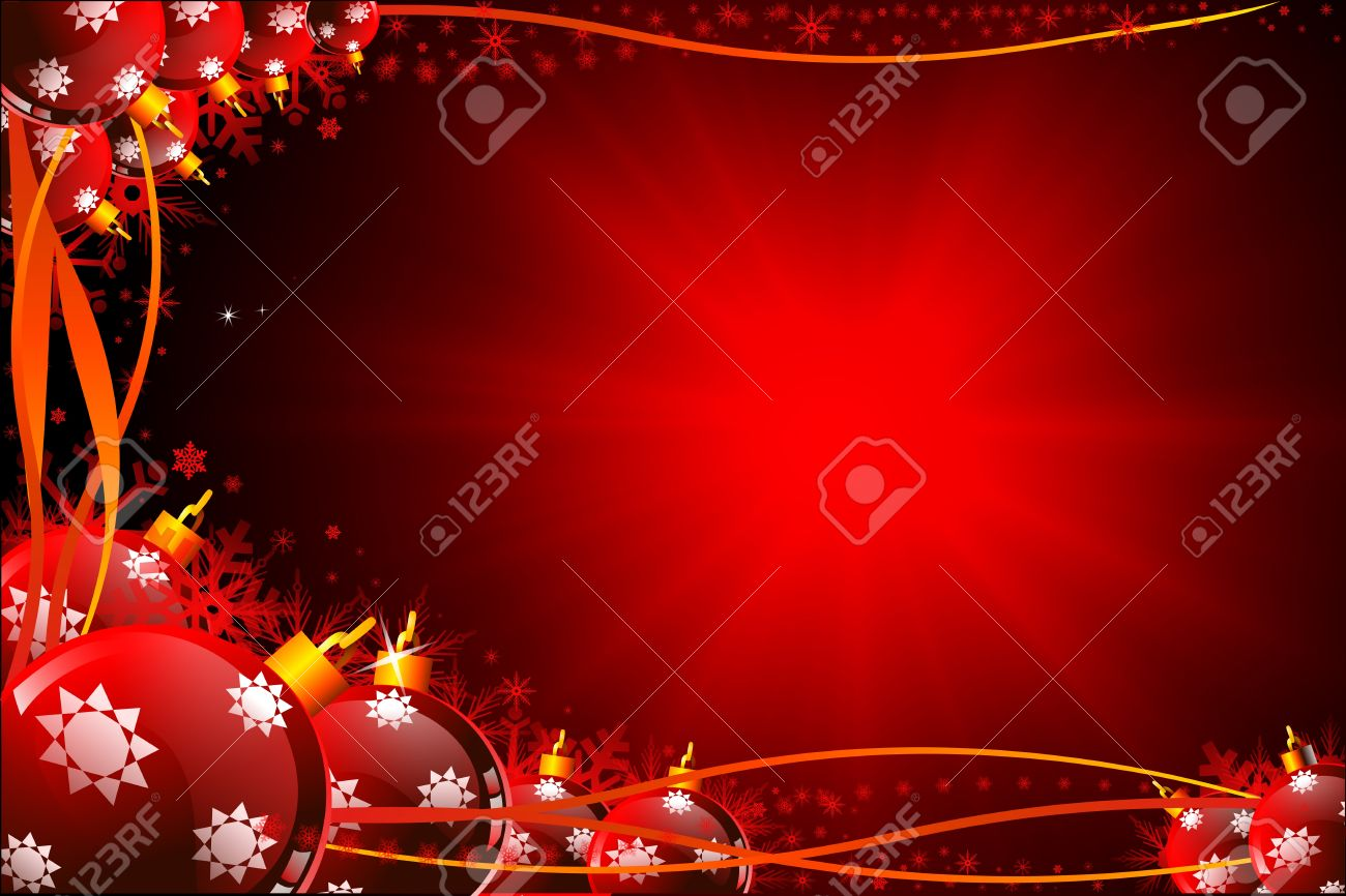 Dark Blue Christmas Background With Jingle Balls Stock Photo ...