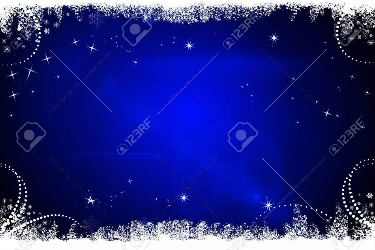 Dark Blue Christmas Background Stock Photo, Picture And Royalty ...