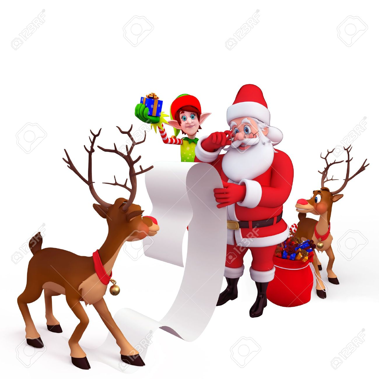 Image result for santa and reindeer images