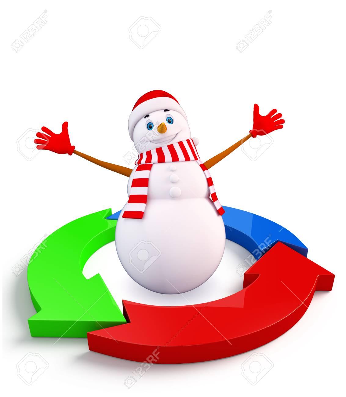 Bonhomme Graphique illustration de caractère de bonhomme de neige avec schéma graphique