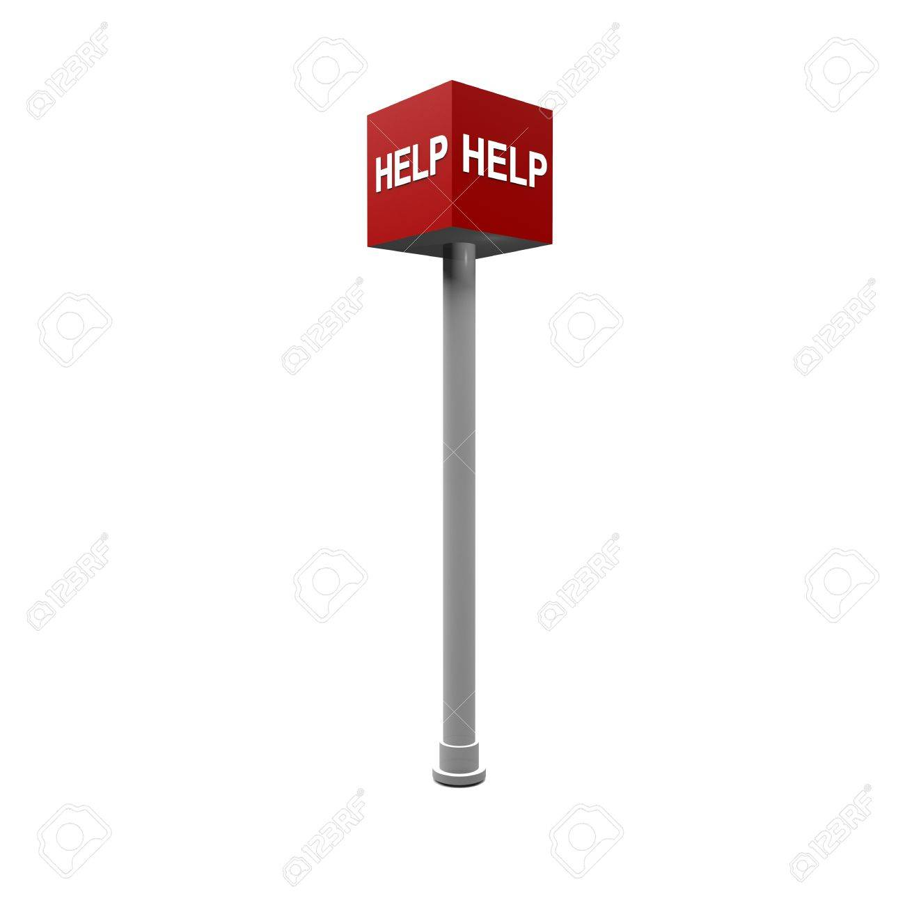 help sign Stock Photo - 19980274