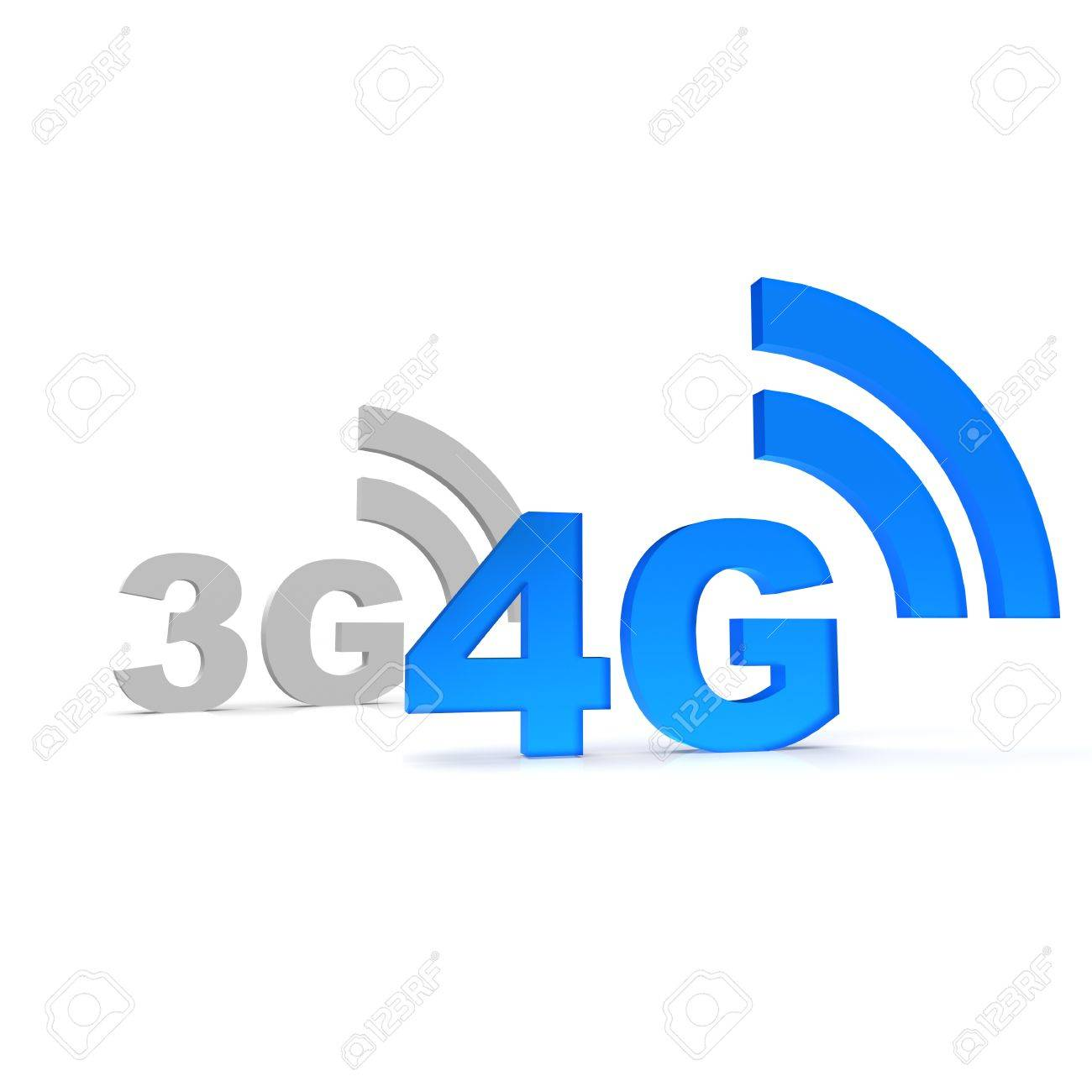 3G And 4G Icon Stock Photo, Pi...