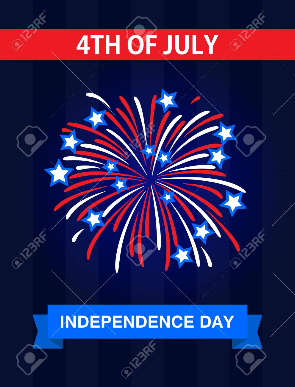 Happy Independence Day The 4th July United States Of America