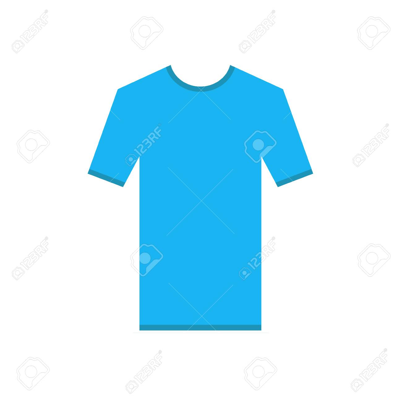 Light Blue Tshirt Simple Icon T Shirt Short Sleeve With Ribbons