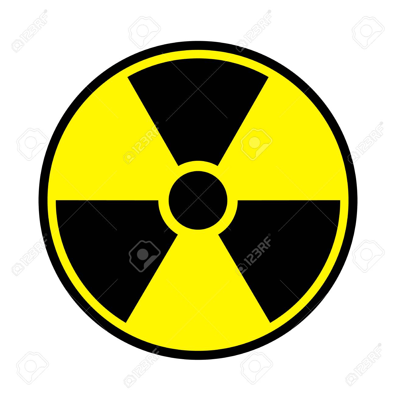 vector illustration toxic sign symbol warning radioactive zone rh 123rf com radioactif logo wallpaper radioactive looking slime