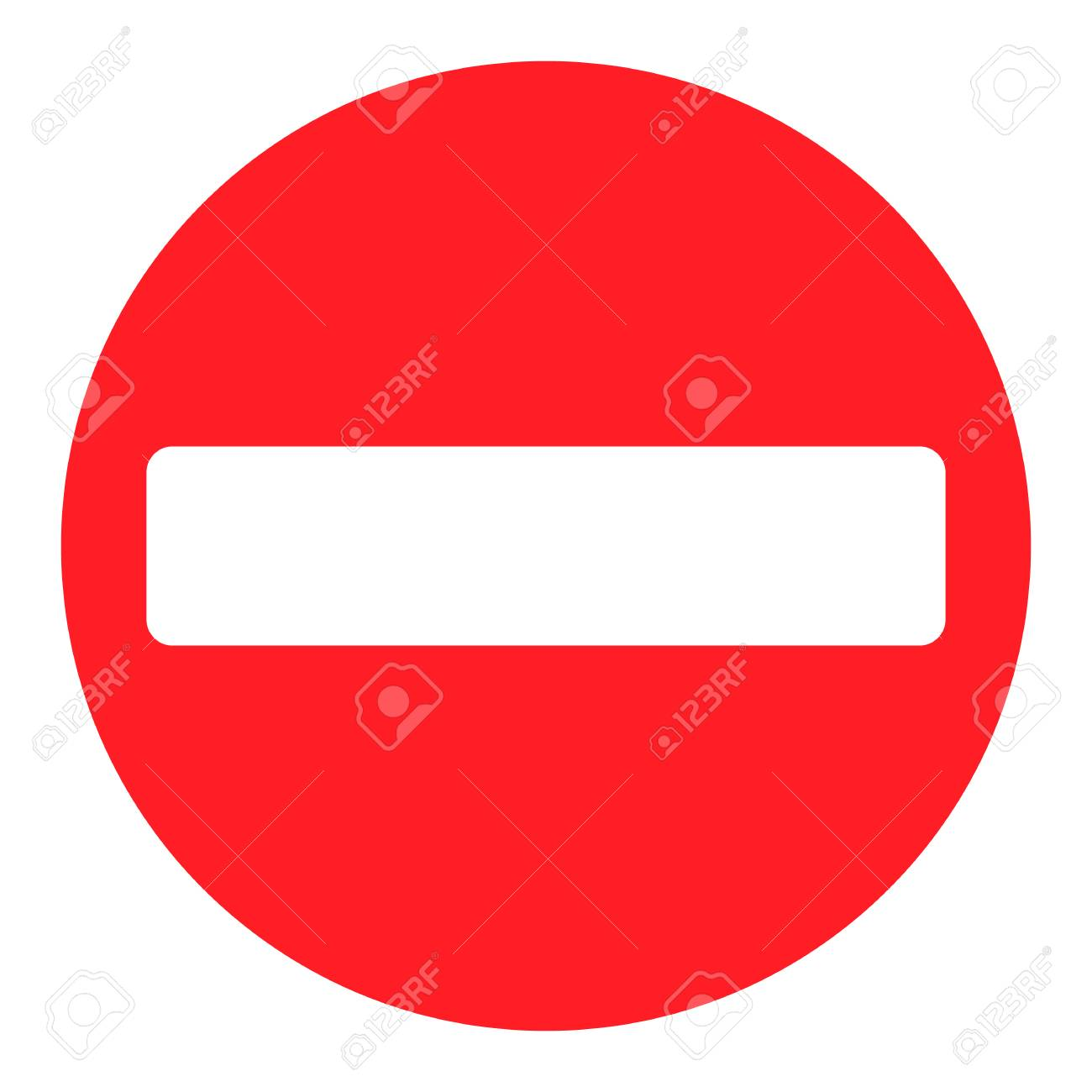 Vector Stop Sign Icon Red Restriction To Enter No Road Allowed Royalty Free Cliparts Vectors And Stock Illustration Image 88694458