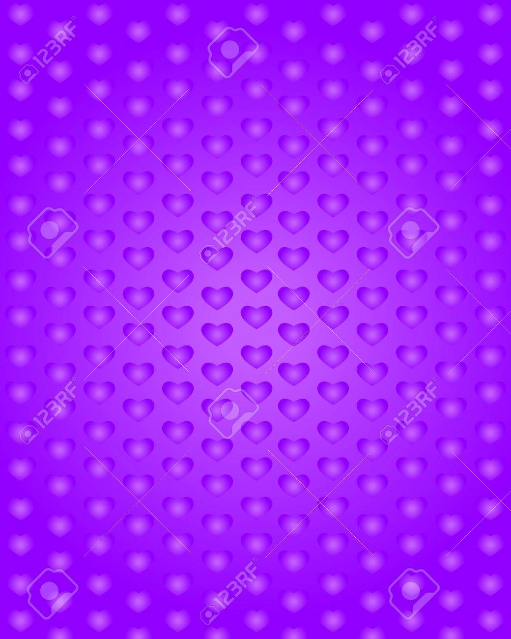 Background with purple hearts Stock Vector - 17299095