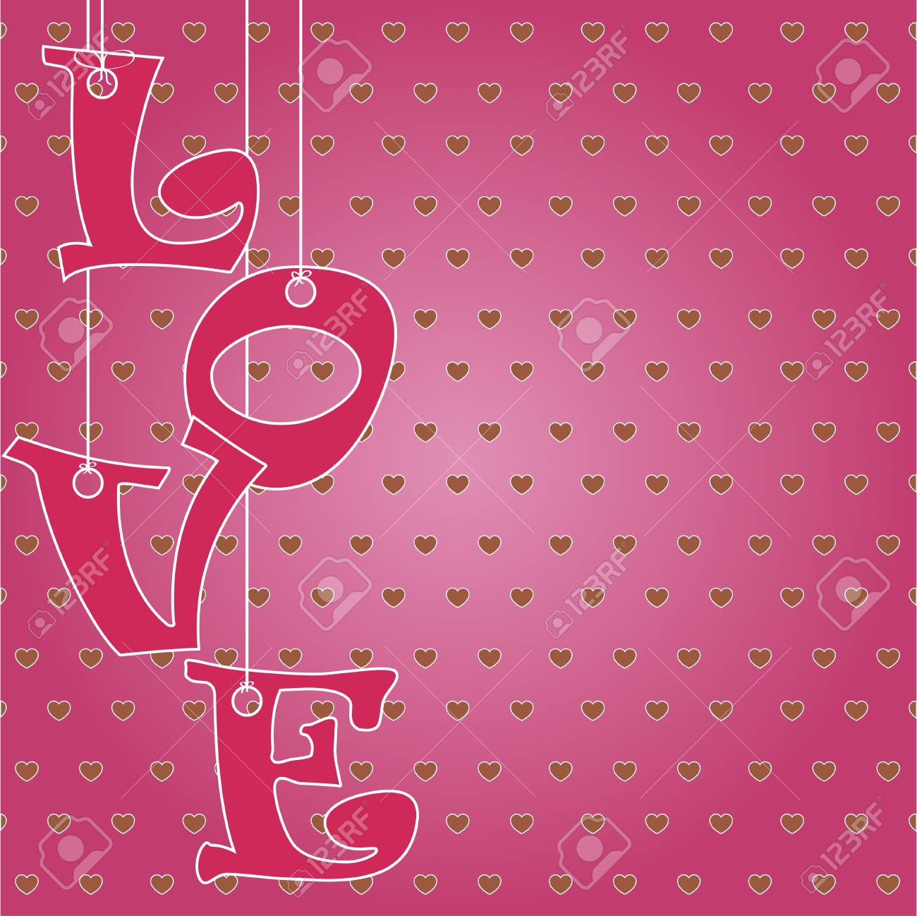 The word Love with hanging letters Stock Vector - 17433196