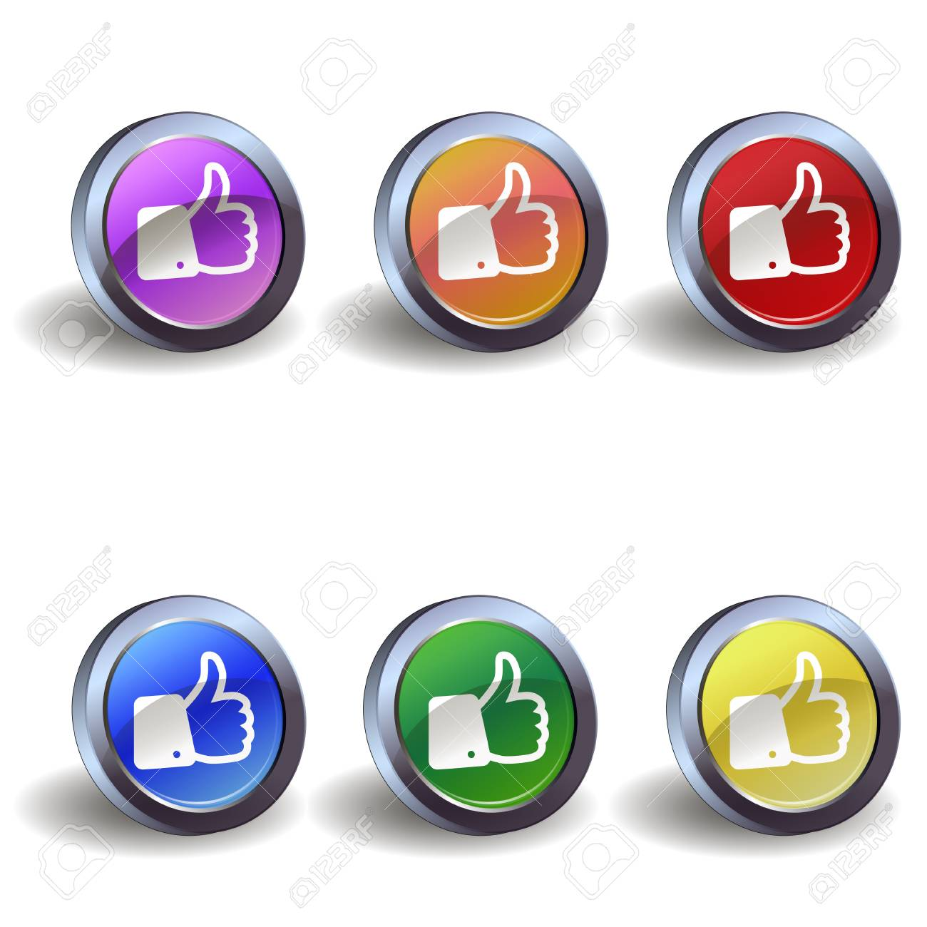 Like icon buttons Stock Vector - 17699617