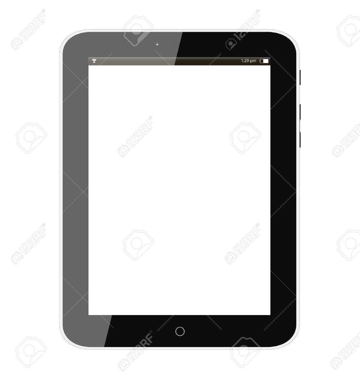 Black tablet pc Stock Vector - 17699613