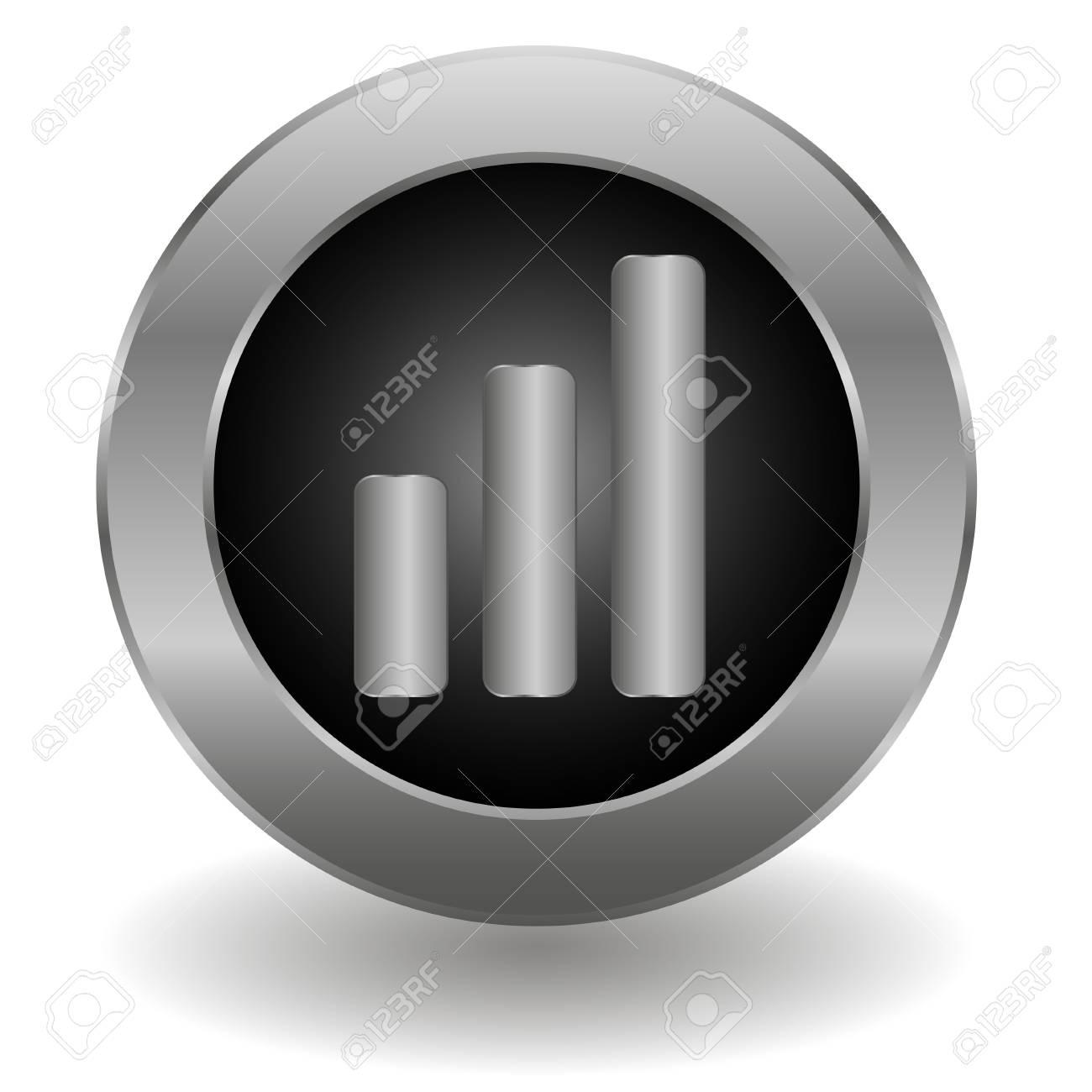 Metallic signal button Stock Vector - 19626480