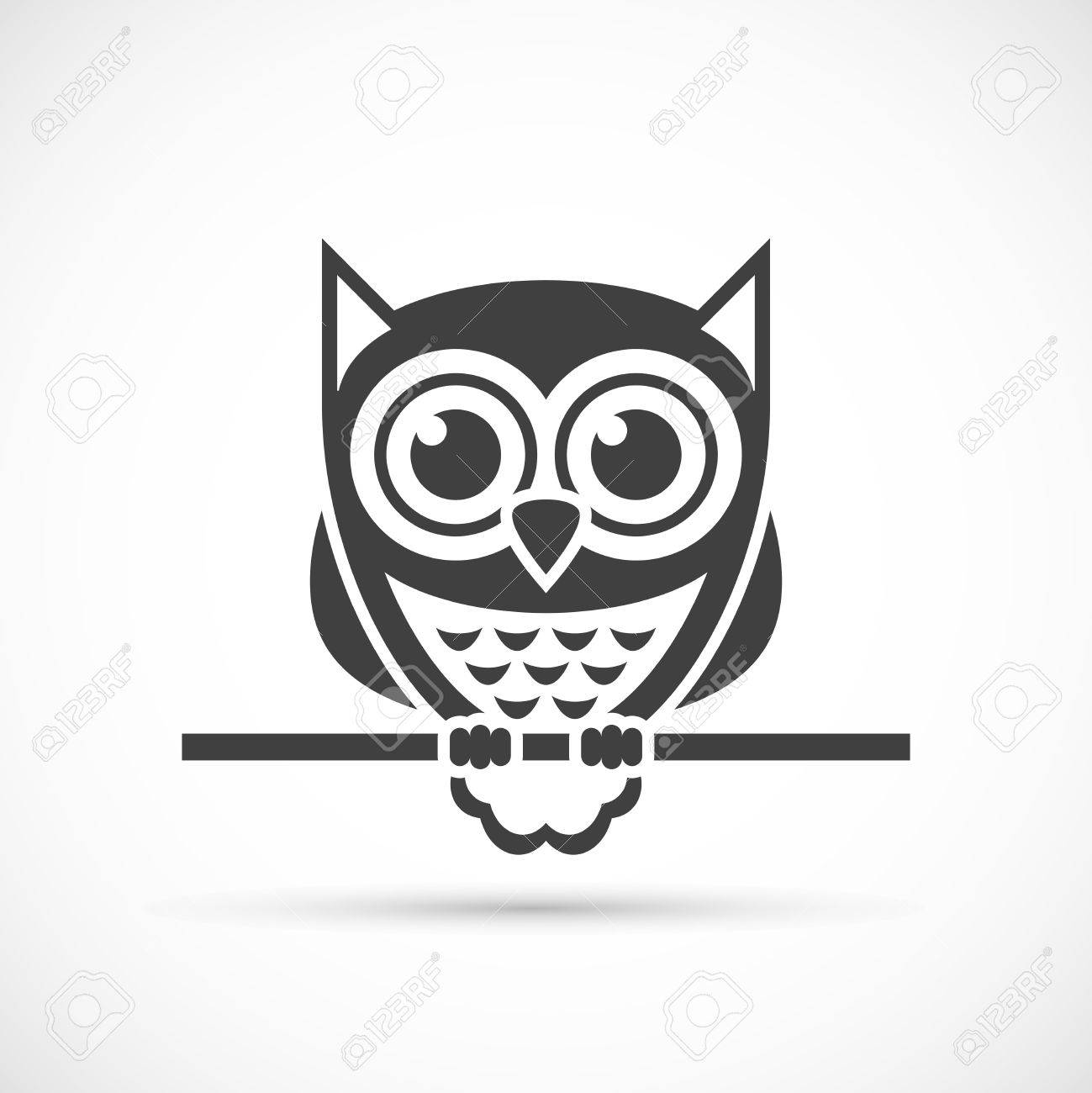 owl icon. halloween illustration royalty free cliparts, vectors, and
