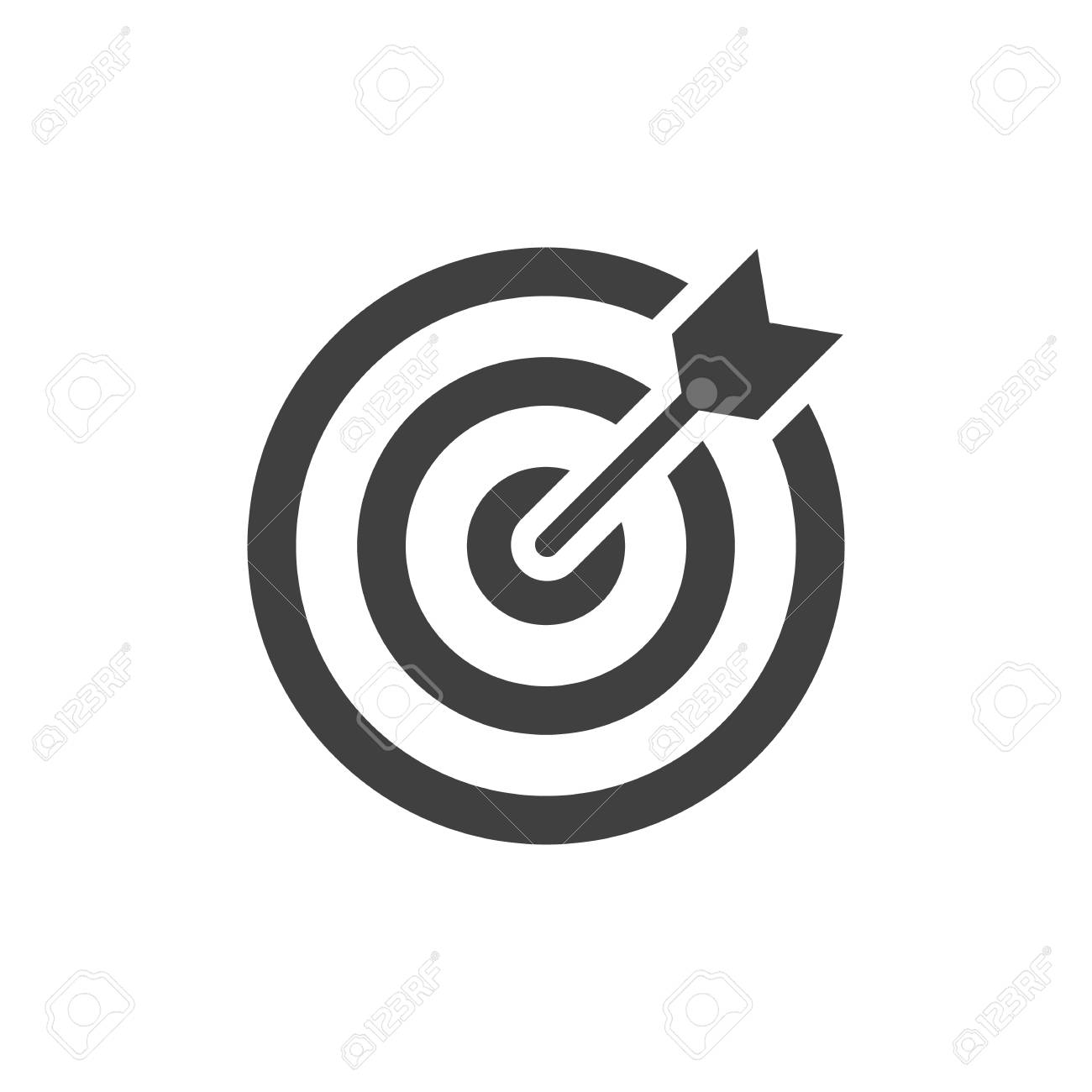 Target black icon on white background - 124654675