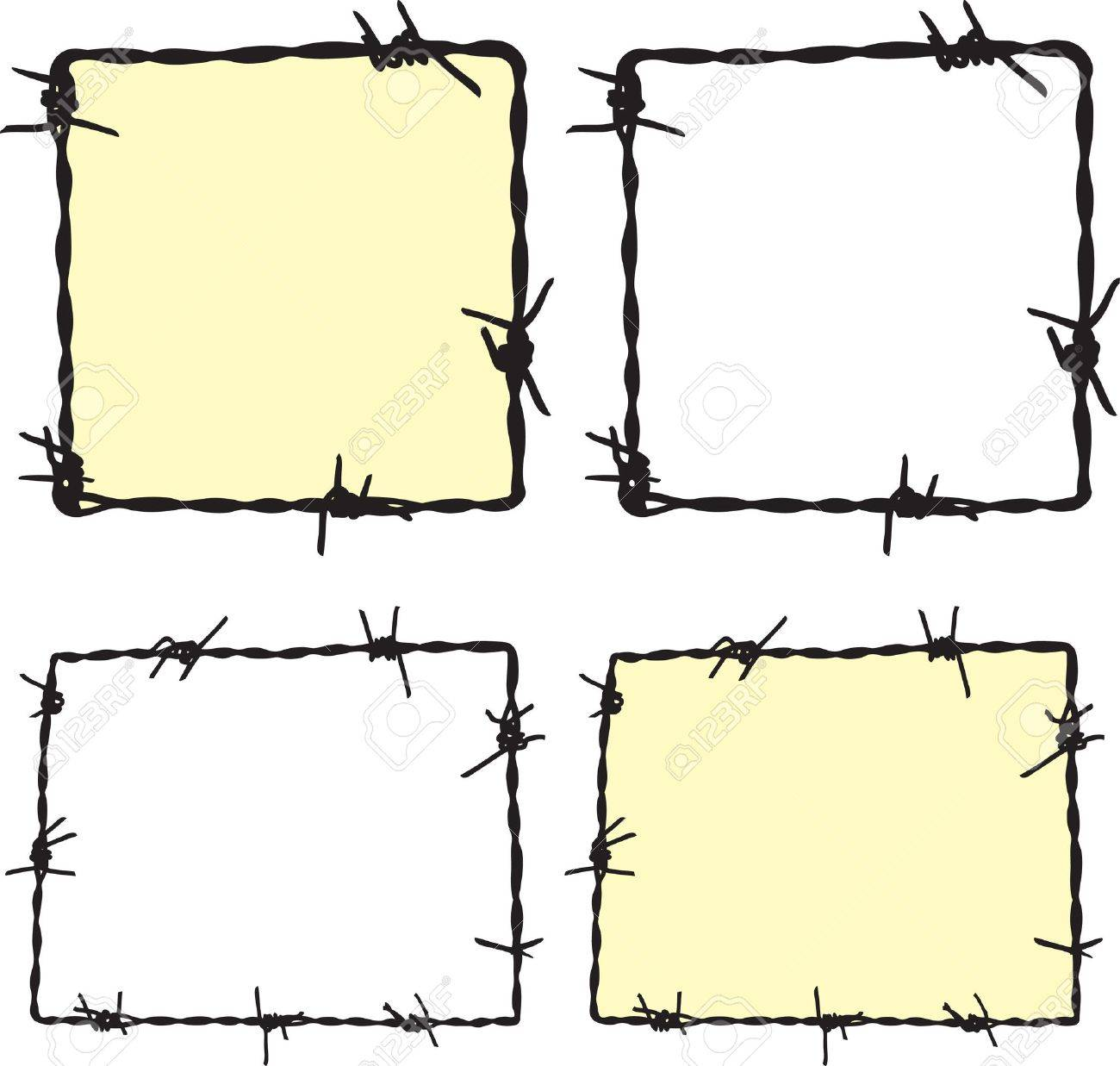 Barbwire frame Stock Vector - 7930997