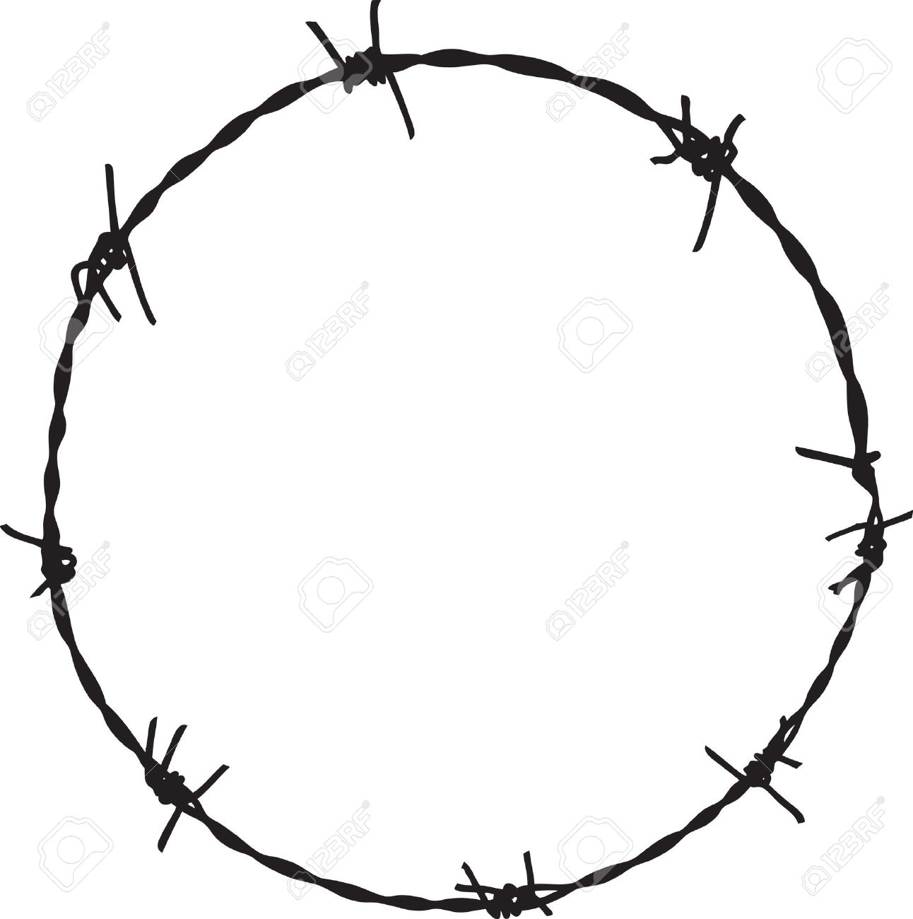 barbwire frame royalty free cliparts vectors and stock rh 123rf com barbed wire vector art free barbed wire vector art free