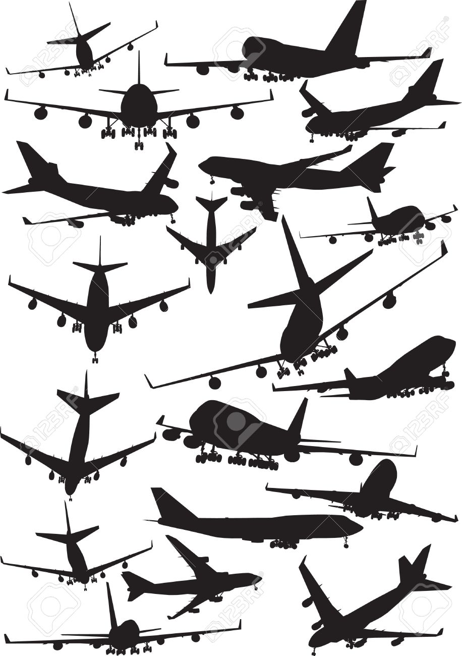 Airplane silhouettes boeing 747 royalty free cliparts vectors and airplane silhouettes boeing 747 stock vector 7931027 buycottarizona Image collections