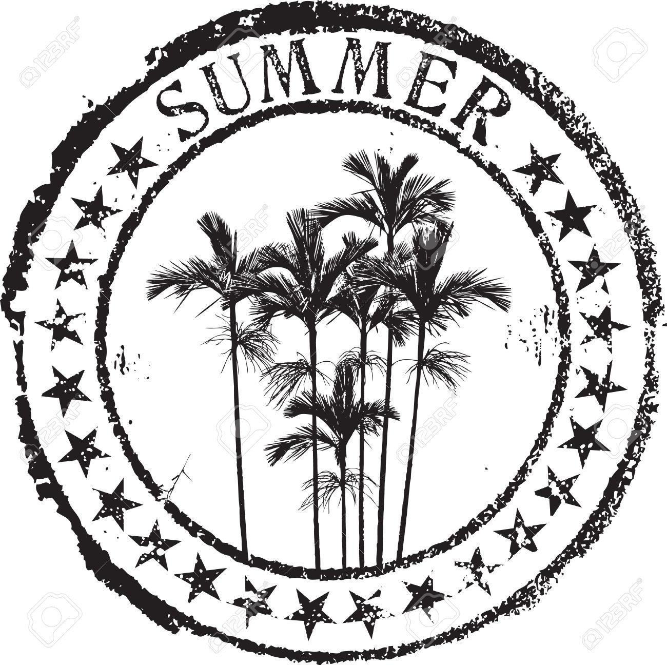 Abstract grunge rubber stamp shape with the word summer Stock Vector - 7931060