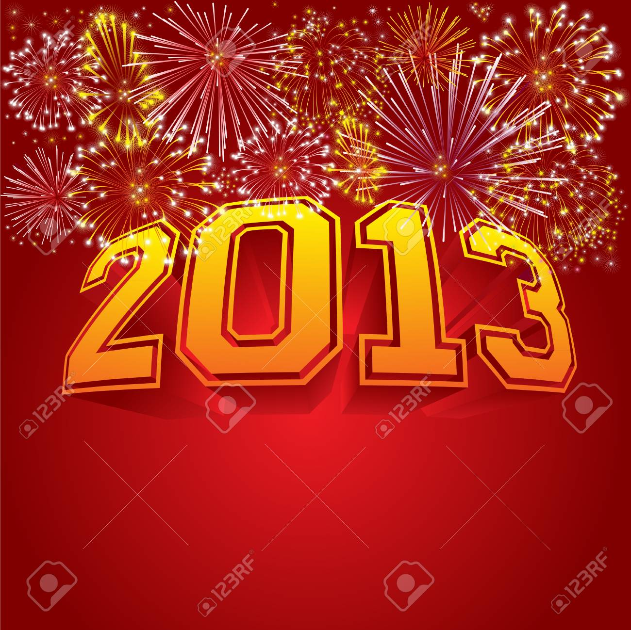 Happy new year 2013 vector illustration Stock Vector - 16627671