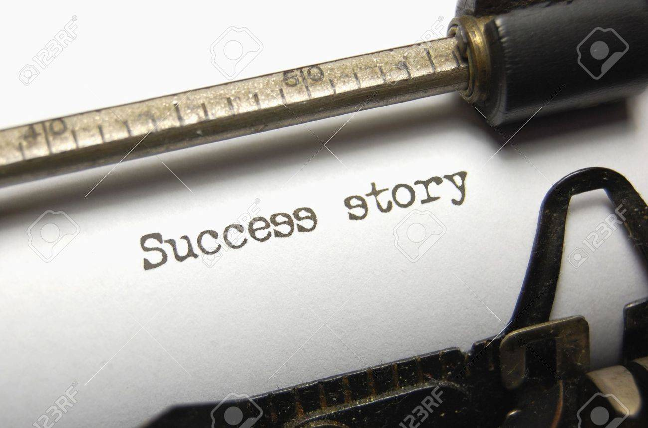 Success Story written on an old typewriter Stock Photo - 5566342