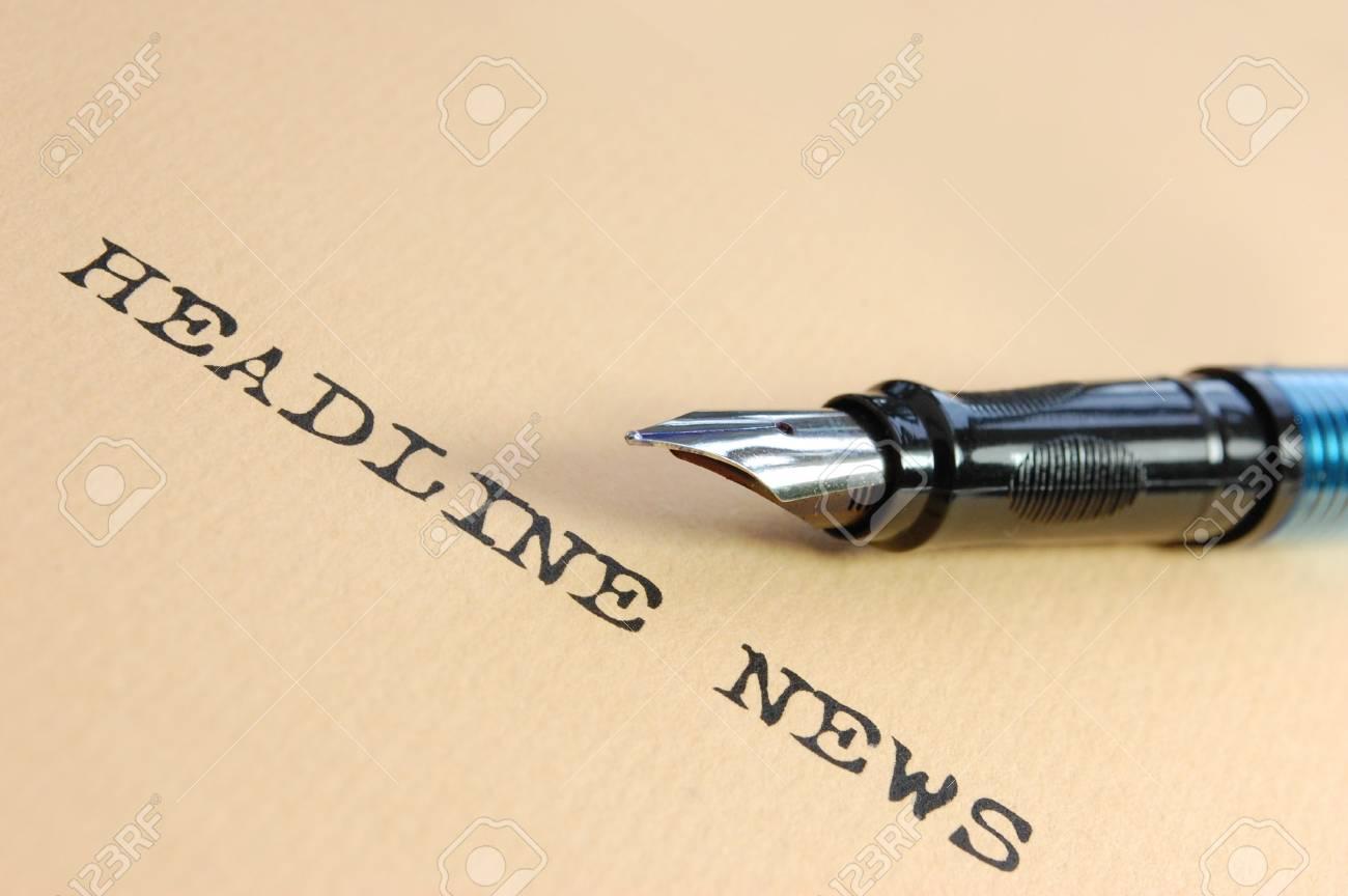 News Headlines Stock Photo - 7477173